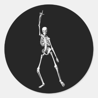 Autocollant squelettique frais
