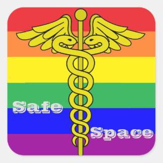 Autocollant sûr de l'espace de LGBTQ