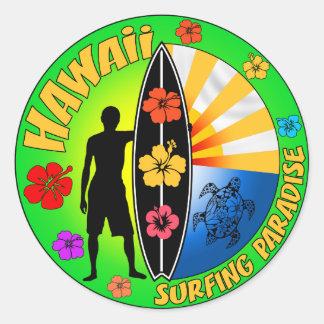 Autocollant surfant d Hawaï