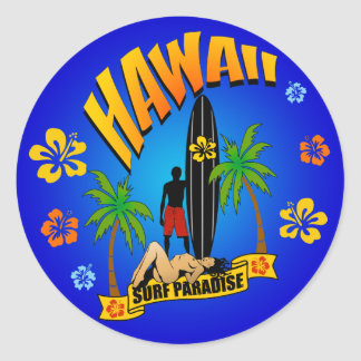 Autocollant surfant d'Hawaï