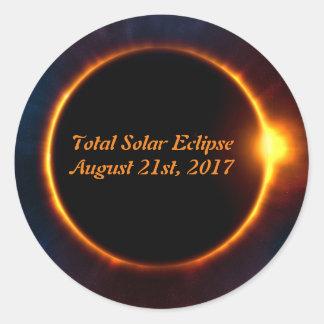 Autocollant total d'éclipse solaire le 21 août