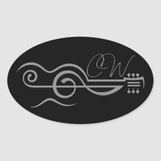 Autocollant triple de logo de guitare de Chris