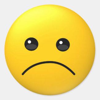 Autocollant triste d'emoji d'expression