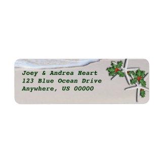 Autocollant tropical d'adresse de retour d'étoiles étiquettes d'adresse retour
