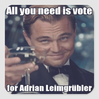 Autocollant - univers you need is for Adrian vote