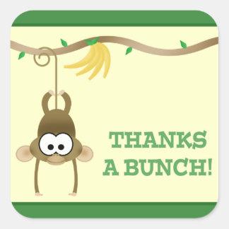 Autocollant (vert) de Merci de vigne de singe