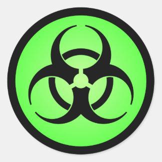 Autocollant vert de symbole de Biohazard