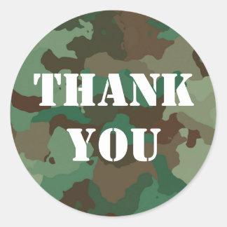 Autocollant vert militaire de Merci de camouflage