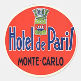 Autocollant vintage d hôtel et de voyage