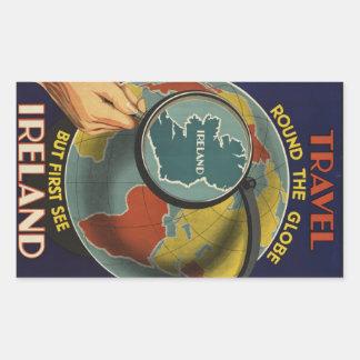 Autocollant vintage d'affiche de voyage de l'Irlan