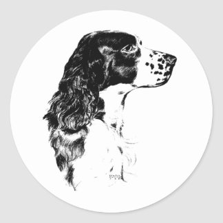 Autocollant vintage de chien d épagneul de springe