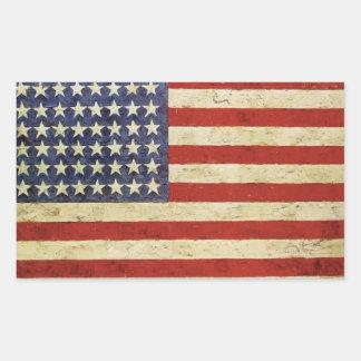 Autocollant vintage de drapeau américain