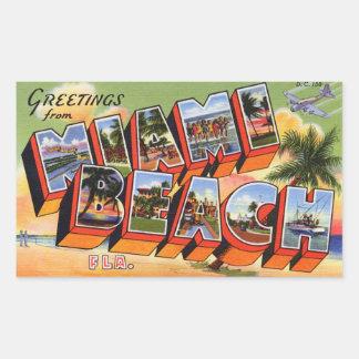 Autocollant vintage de Miami Beach