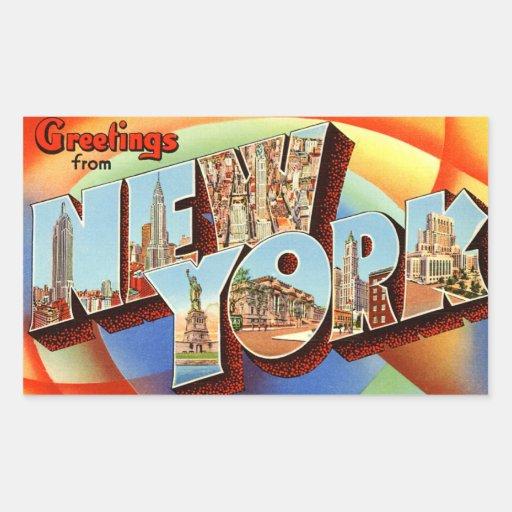 Autocollant vintage de New York