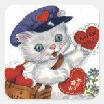 Autocollant vintage de Saint-Valentin d'art