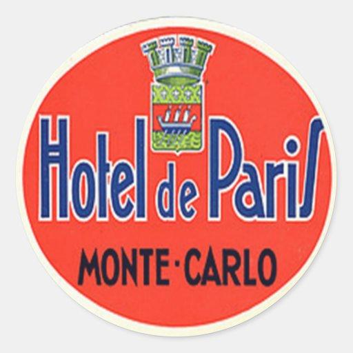 Autocollant vintage d'hôtel et de voyage