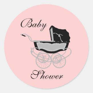Autocollant vintage élégant de baby shower de