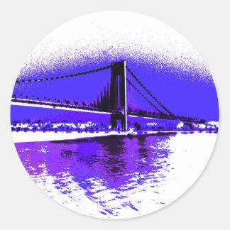 Autocollant violet de pont de Verrazano