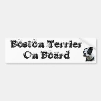 Autocollant voiture Boston Terrier On Board