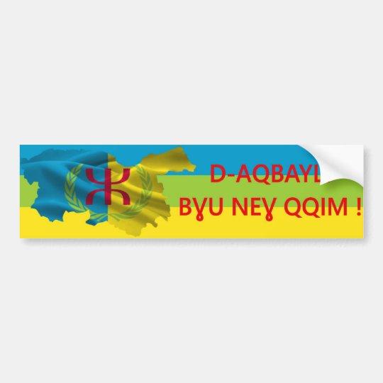 Autocollant voiture D-Aqbayli bɣu neɣ qqim !