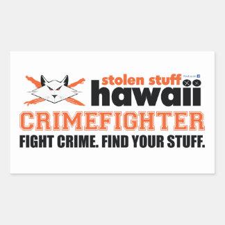 Autocollant volé d'Hawaï Crimefighter de substance
