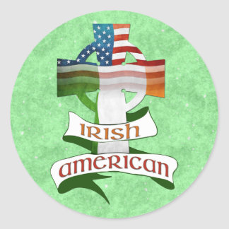 Autocollants américains irlandais de croix