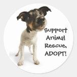 Autocollants animaux de délivrance de soutien