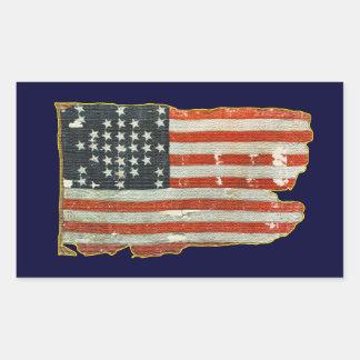 Autocollants antiques vintages de drapeau