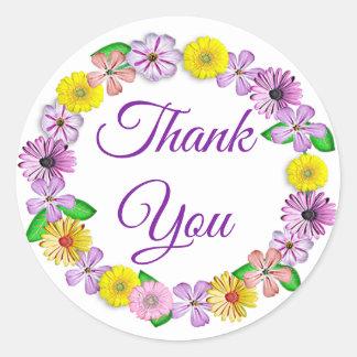 Autocollants assez floraux de Merci de guirlande