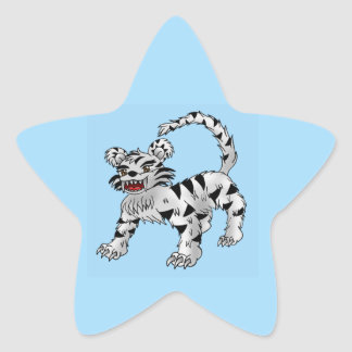 autocollants blancs de tigre