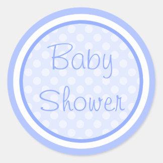 Autocollants bleus de baby shower