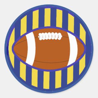 Autocollants bleus et oranges d'équipe de football