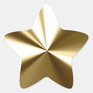 Autocollants brillants d étoile d or