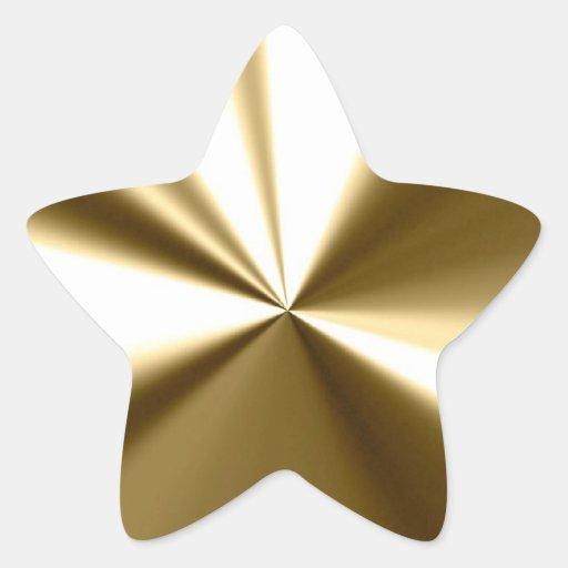 Autocollants brillants d'étoile d'or