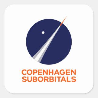 Autocollants carrés avec le logo de Copenhague