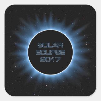 Autocollants carrés de l'éclipse solaire 2017