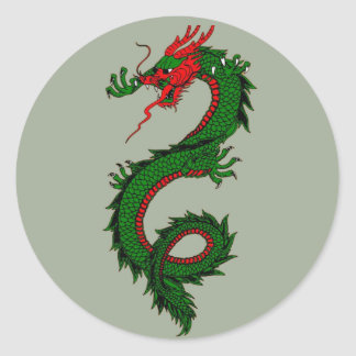 Autocollants chinois de dragon