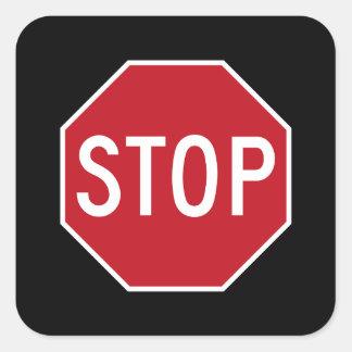 Autocollants classiques de noir de route de signe
