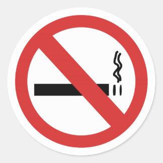 Autocollants classiques non-fumeurs