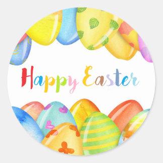 autocollants colorés heureux de Pâques