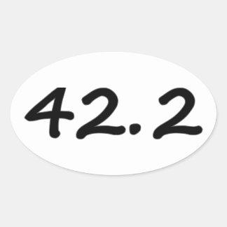 autocollants courants ovales du marathon 42.2k (4)