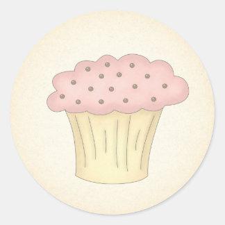Autocollants courts de petit gâteau