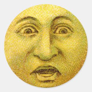 Autocollants craintifs de Halloween de lune