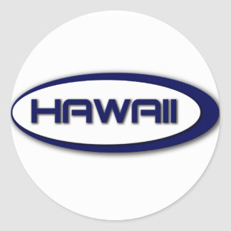 Autocollants d ovale d Hawaï
