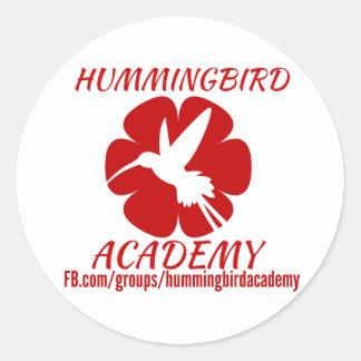 Autocollants d'académie de colibri