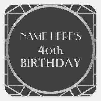 autocollants d'adresse de Gatsby d'anniversaire