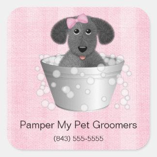 Autocollants d'affaires de Groomer de chien