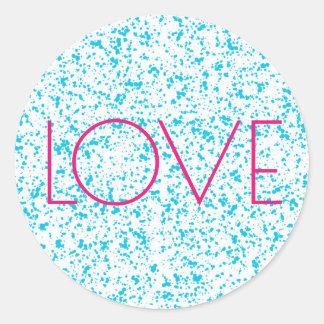 Autocollants dalmatiens bleus d'impression d'amour