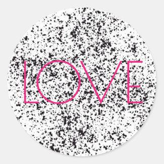 Autocollants dalmatiens d'impression d'amour