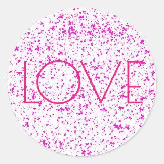 Autocollants dalmatiens roses d'impression d'amour